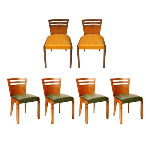 1930s german art deco dining chairs set of 6 art deco dining 6