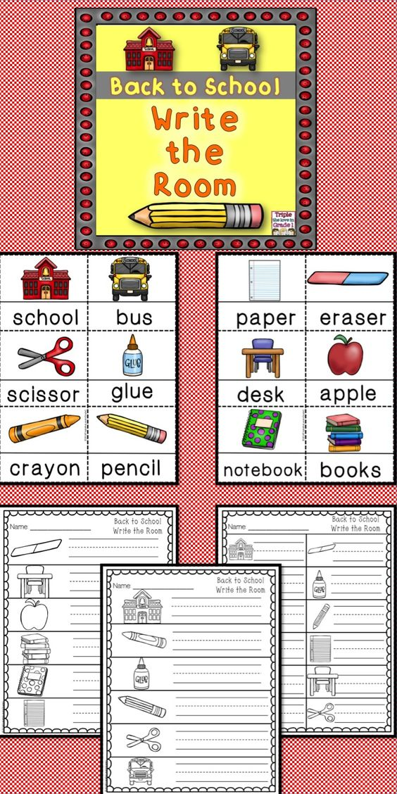 Back to School Write the Room | Back to, The room and Schools