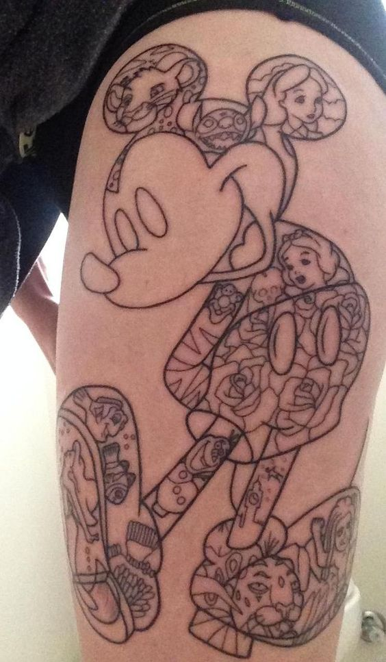disney tattoo done by mick wildfire tattoo port