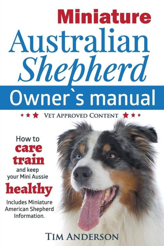 Miniature Australian Shepherd Owner S Manual How To Care Train Keep Your Mini Aussie Healthy Includes Miniature American Shepherd Vet Approved C In 2020 Miniature Australian Shepherd Miniature American Shepherd American Shepherd