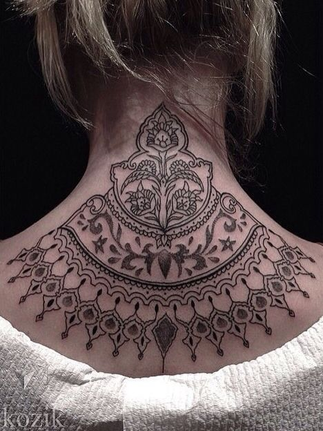 back of neck tattoo tattoo pinterest sternum tattoo. Black Bedroom Furniture Sets. Home Design Ideas