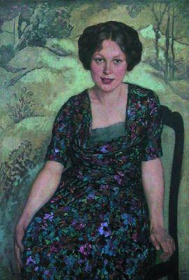 Emil Orlik - 'Sitzende junge dame',1927.