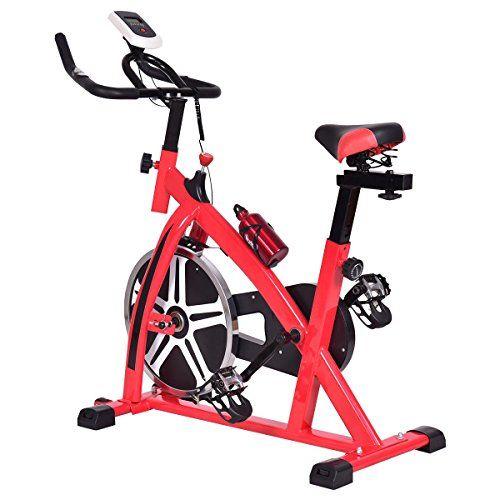 Goplus Adjustable Exercise Bike Cycle Trainer Stationary Cardio