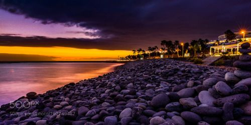 Sunset Melody by igordanajlovskiphotography  landscape beauty sunset water travel island night clouds ocean love stars music palms alley long exp