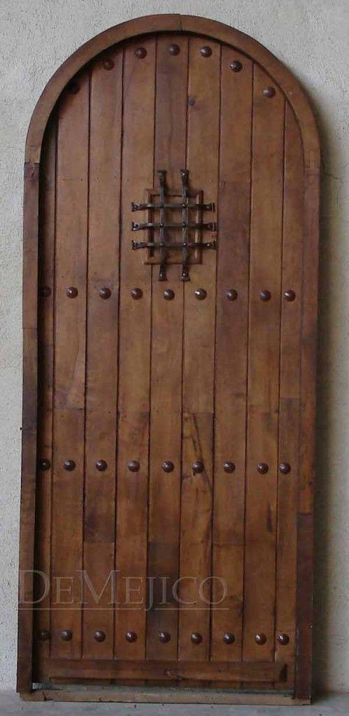 Spanish style wooden gates spanish door puerta santos for Door in spanish
