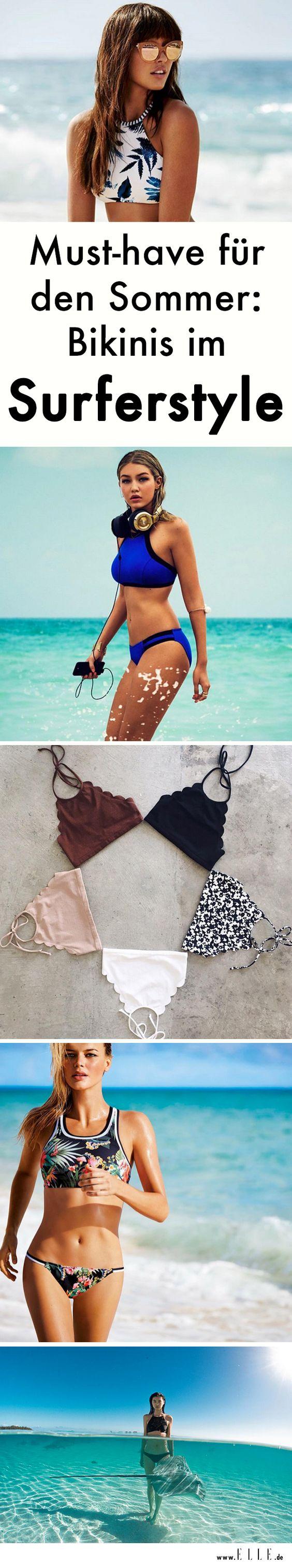 Mit diesen Bikinis surft du auf der Trendwelle des Sommers. Inspiration holen wir uns von den coolsten Surfergirls von Hawaii bis Bondi Beach und funktionieren den sportlichen Look einfach zum liebsten Strandoutfit um.