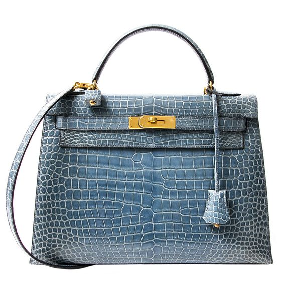 best replica hermes evelyne bag - Rare Hermes Blue Jean Porosus Crocodile 32 Kelly GHW | Hermes ...