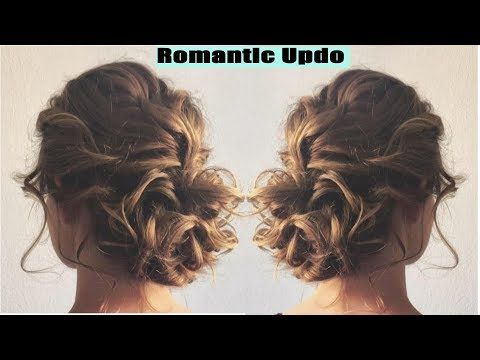 Romantic Updo Hairstyle Hairstyles For Long Medium Hair Youtube Romantic Updo Hairstyles Hair Updos Tutorials Easy Updos For Medium Hair