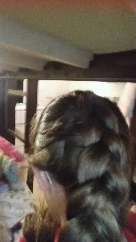 I learned how to do a French braid.