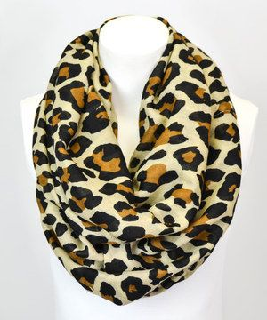 Look what I found on #zulily! Camel Leopard Infinity Scarf by Leto Collection #zulilyfinds