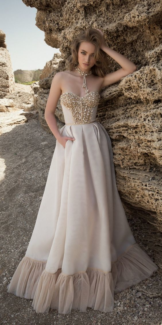 A Line Princess Prom Dress With Beading,Formal Women Dress