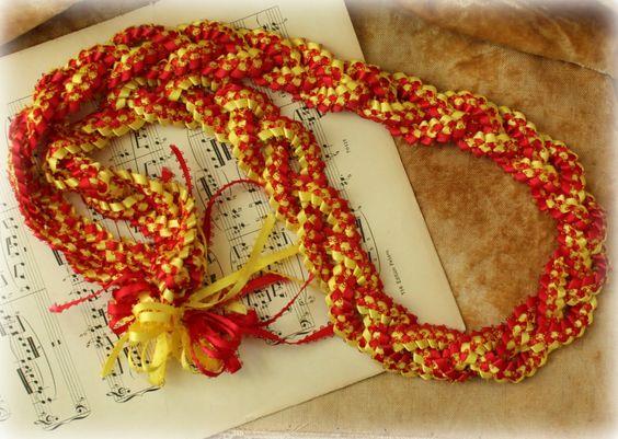 Braiding Ribbon Lei Instructions