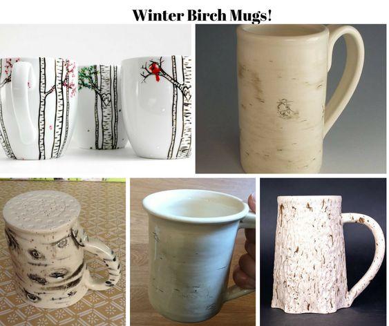 Winter Birch Mugs