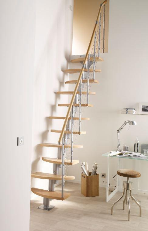 Escalier A Pas Alternes Bois Inversio L 64 Cm 11 Marches Hetre