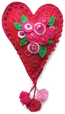 VALENTINE heart of felt
