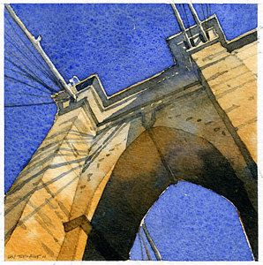 Iain Stewart  West Tower  Watercolor