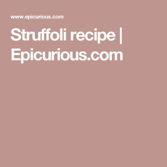 Struffoli recipe   Epicurious.com