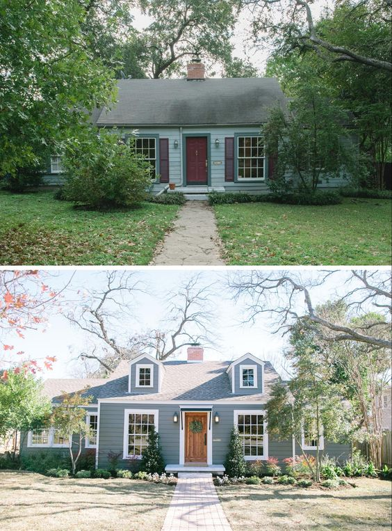 Gorgeous cottage home exterior before and after exteriors pinterest cottage home exteriors - Home exteriors before and after ...