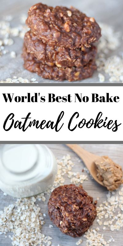 World's Best No Bake Oatmeal Cookies