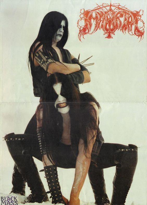 "Immortal    Demonaz ,Abbath -Immortal. poster from ""Black Mass"" mag."