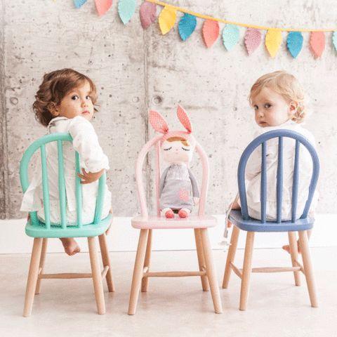 Sillita Retro Rosa belle peinture petit chaise enfant