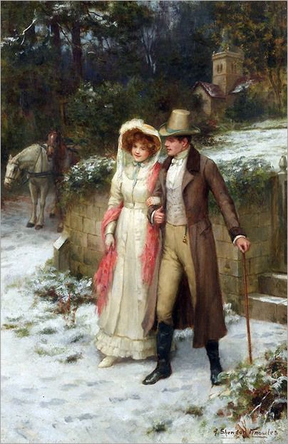 George Sheridan Knowles (english, 1863-1931)- Safe at Last