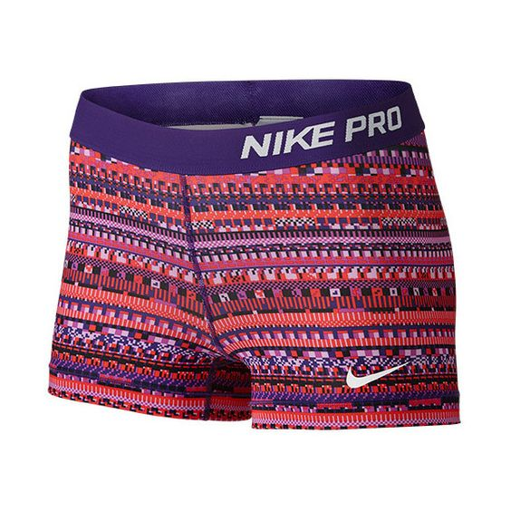 Women's Nike 3 Inch Pro Core Compression Shorts ($35) ❤ liked on Polyvore featuring activewear, activewear shorts, nike sportswear, nike and nike activewear