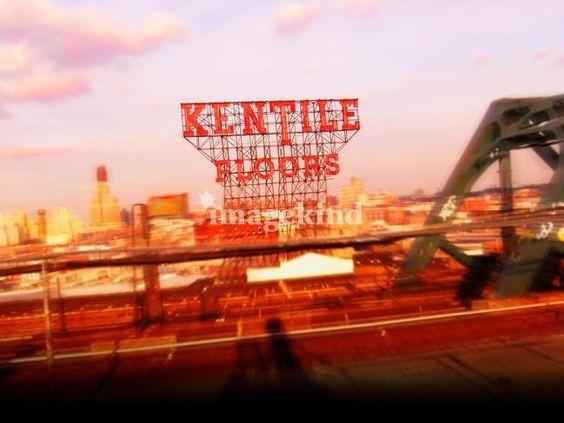Kentile Floors sign in Brooklyn - print by Alex Bershaw