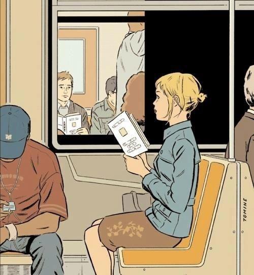 En el metro. Miradas cruzadas