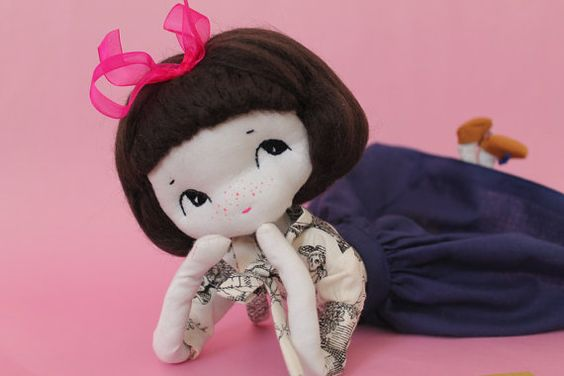 Perrine  OOAK doll par ConfitureDePoeme sur Etsy