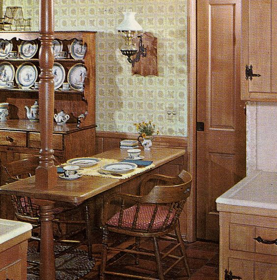 Decor And Detailing Was Super Similar To This Early American Design