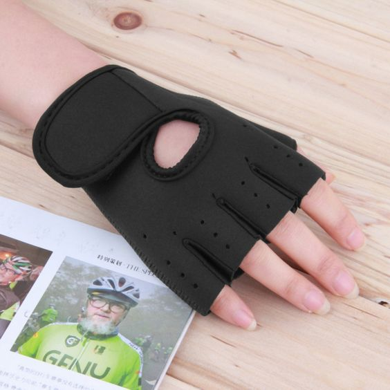 FREE Half Finger Gym Gloves with Ergonomic Sponge Palm Pads