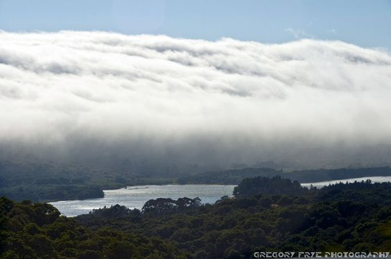 Fog Rolling In Over Crystal Springs San Mateo County San Francisco California Florida City