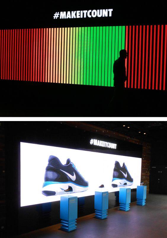 Nike LED Video Wall @ Niketown, London // Screen Media Technology