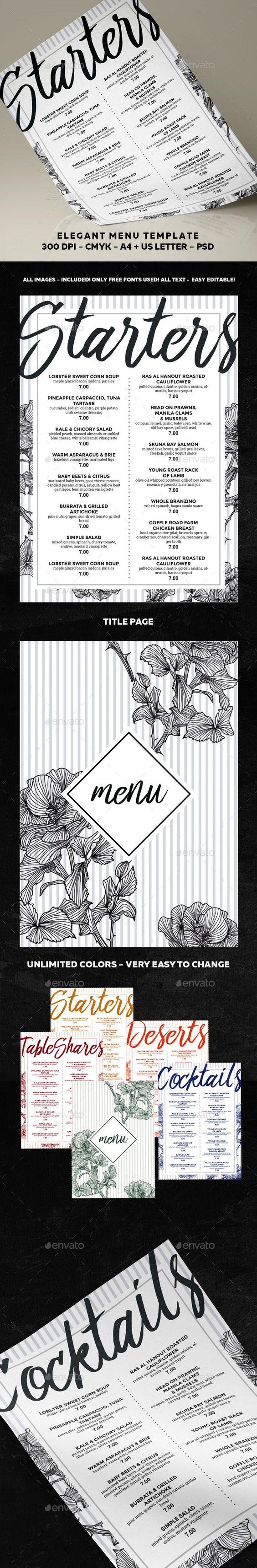 Food Menu Template PSD. Download here: http://graphicriver.net/item/menu-template/16666727?ref=ksioks