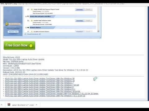 Asus G1s G2s G50v Laptop Auto Driver Update Tool Driver Utility For Wind Asus Computer Driver Motherboard