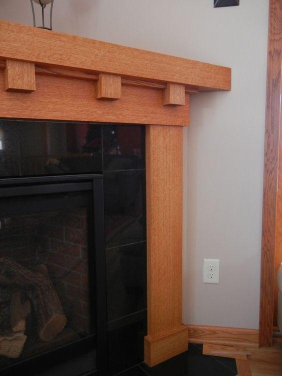 white oak fireplace mantel craftsman style fireplace