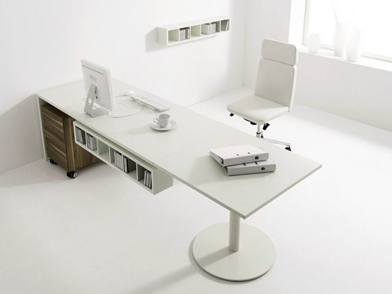 Height-adjustable lacquered office desk HOMEOFFICE F HomeOffice Collection by Hülsta-Werke Hüls