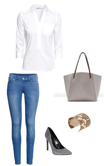 Trousers, shirt H&M Bag Zara Shoes Nine West Bracelets Mango