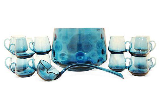 Midcentury Punch Bowl Set, 14 Pcs on OneKingsLane.com
