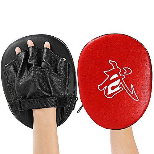 Boxing Mitt Training Target Focus Punch Pad Glove UFC MMA Karate Muay Thai Bag
