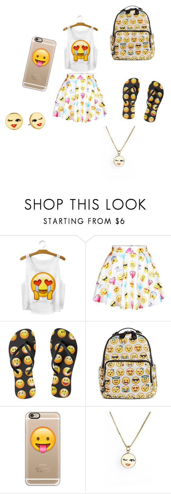 """Emoji Paradise"" by selena589 on Polyvore featuring MMS Design Studio, Casetify and Kate Spade"