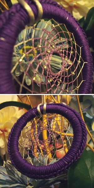 how to make a dreamcatcher with yarn