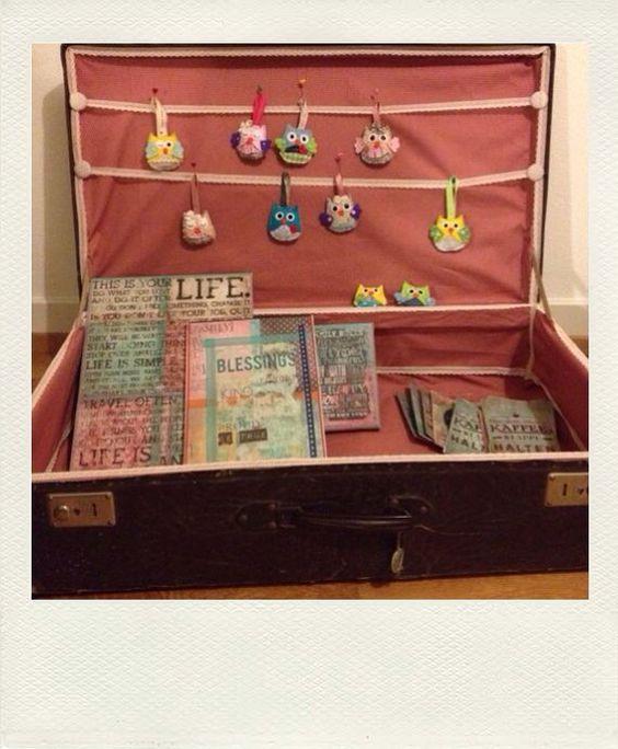 Für ein Koffer-Markt bin ich am Eulen basteln und diverse Bilder am ...