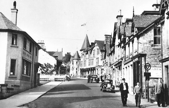 Old photograph of Bonnethill Road in Pitlochry, Highland Perthshire, Scotland
