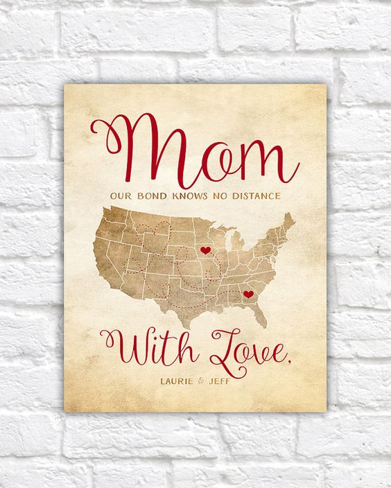Long distance, Mother day gifts and Mom and on Pinterest