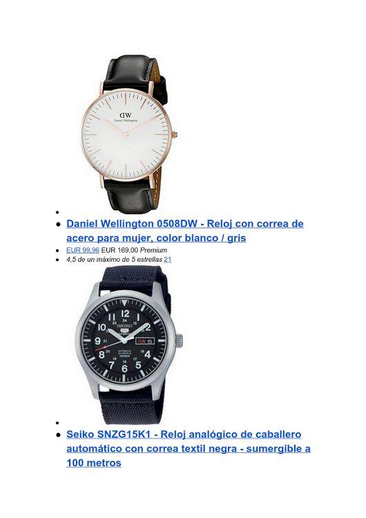 Relojes en oferta