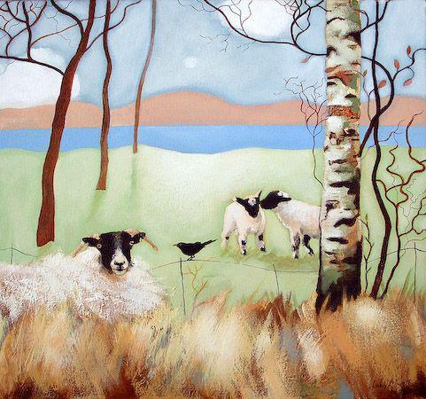 Spring Lambs ~ Scottish artist Lesley McLaren: