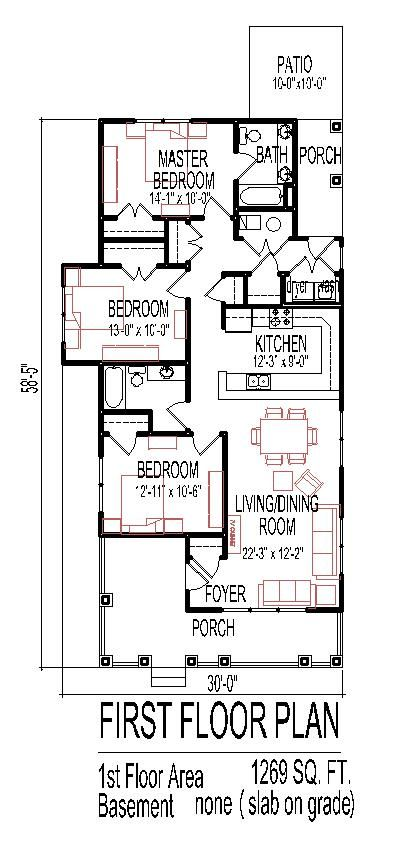House plans front windows and tiny houses floor plans on for Small wheelchair accessible house plans