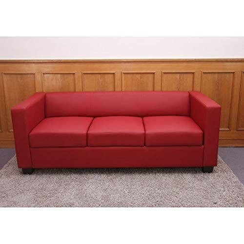 Mendler 3er Sofa Couch Loungesofa Lille Leder Rot In 2020 Couch Lounge Sofa Sofa